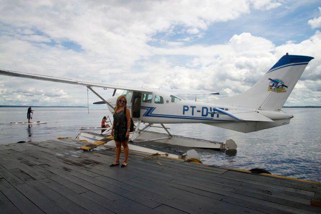 O hidroavião onde fizemos o voo sobre as Anavilhanas