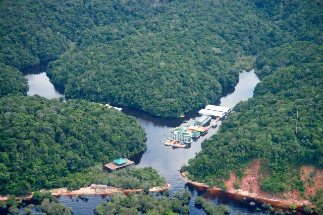 Hotel de Selva na Amazônia Brasileira.