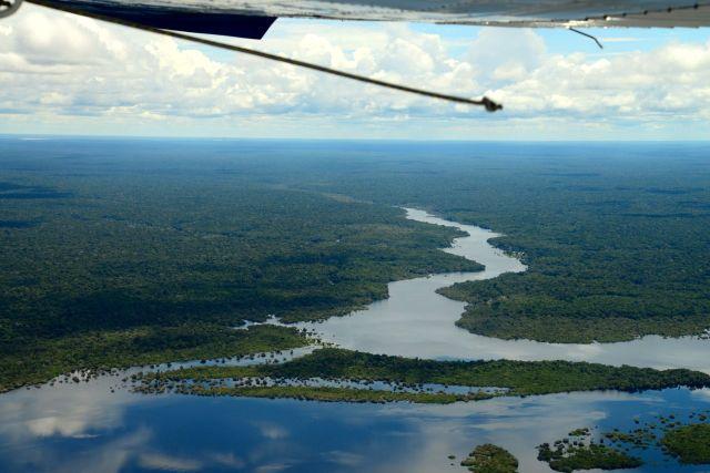 A imensidão da Planície Amazônica.