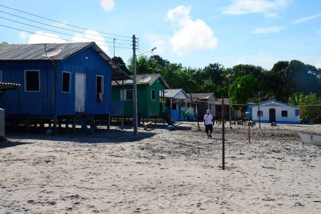 A aldeia indígena.
