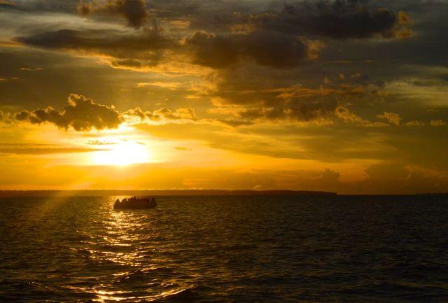 Nascer do sol no Rio Negro