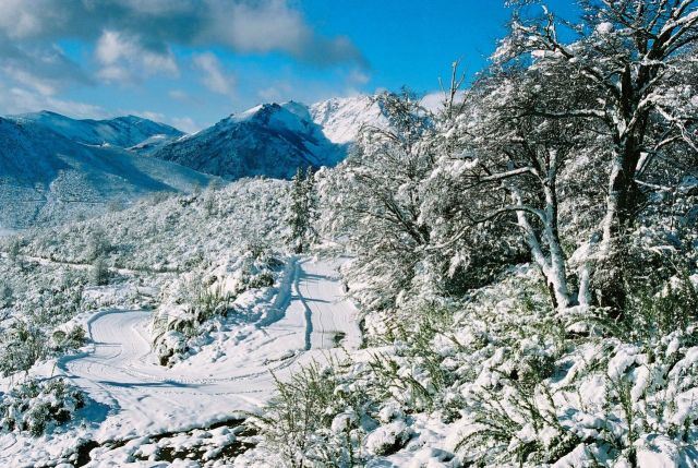 A paisagem estava assim do alto do Cerro Catedral.