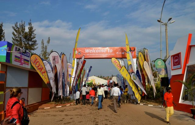A entrada da Expo Ruanda.