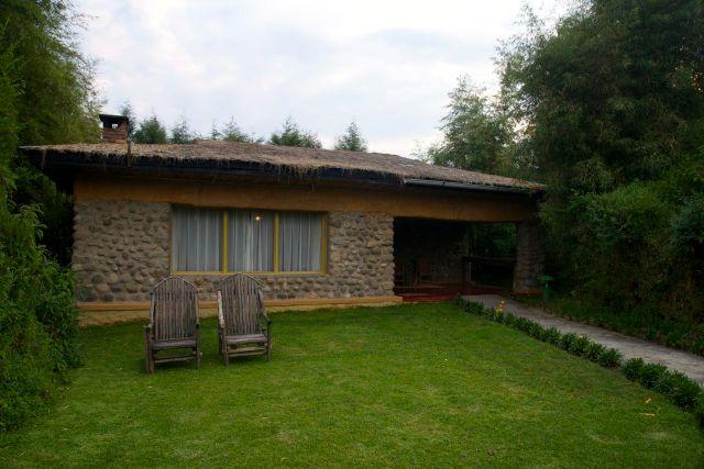 Os amplos apartamentos do Gorillas Mountain View Lodge