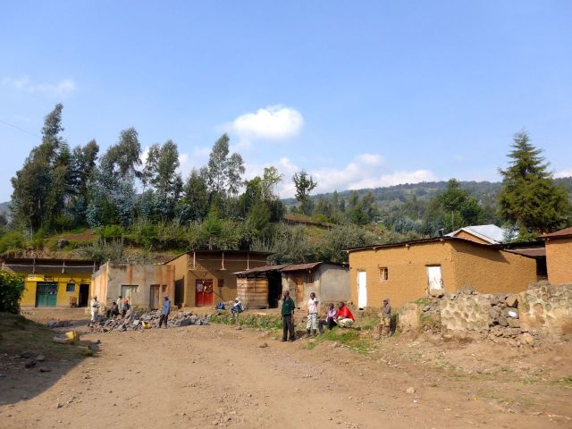 O vilarejo onde começamos a subida.