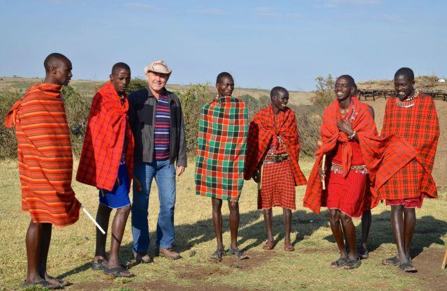 Fomos recebidos com muito carinho pelos guerreiros Masai.
