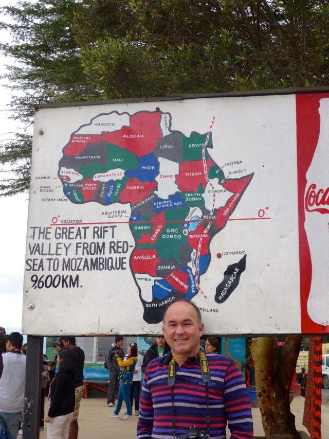 O continente africano rasgado ao meio.