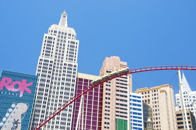 A fachada do Hotel New York em Las Vegas.