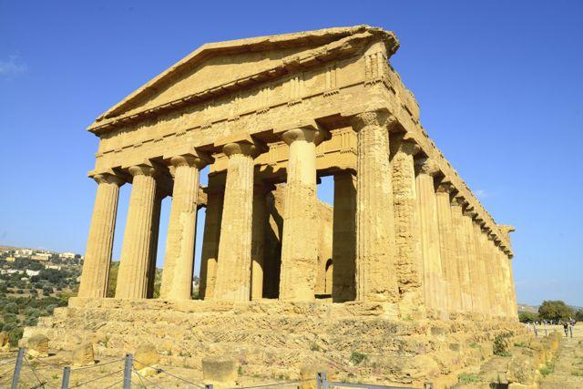 O Templo da Concórdia em Agrigento.