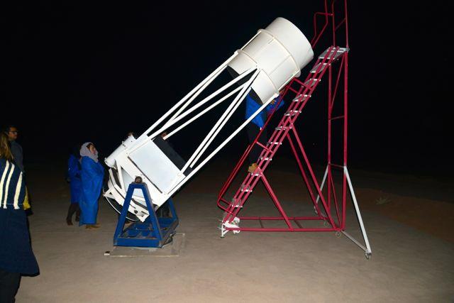 Um dos telescópios do tour astronômico.