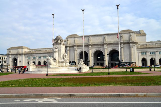 A fachada da estação de trens Union Nation