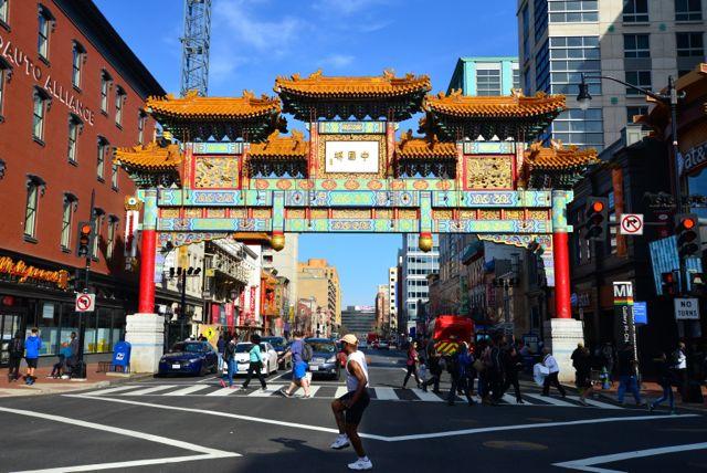 O pórtico do bairro de Chinatown
