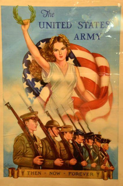 Uma ala dedicada às guerras nas quais os EUA se envolveu.