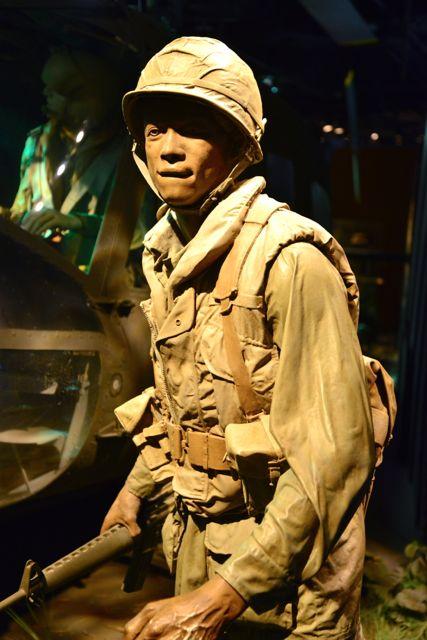 Soldado americano na Guerra do Vietnam.