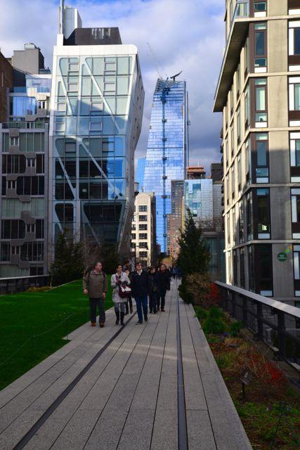 Detalhes da High Line.