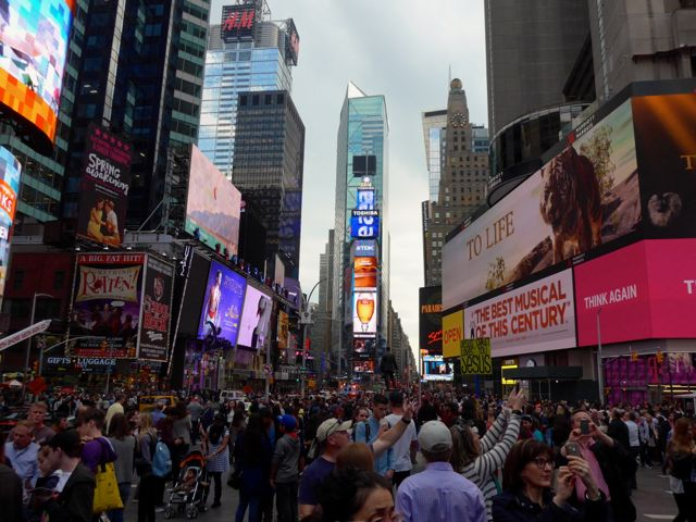 A frenética Times Square.