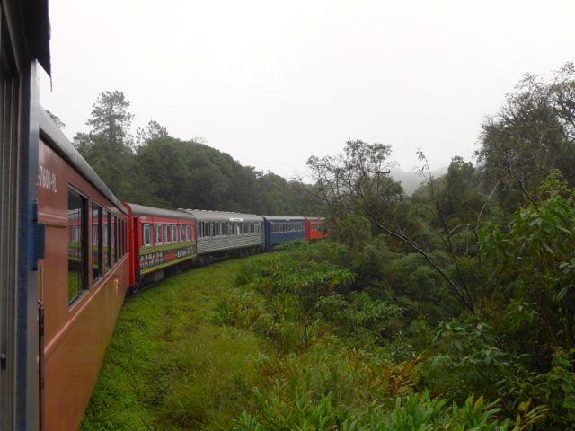O trem para Morretes.