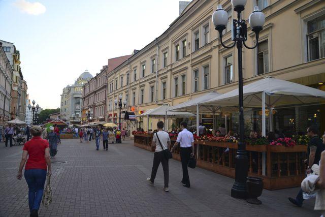 Restaurantes no meio da rua