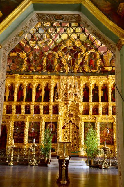 O Iconóstase da Igreja da São Sérgio