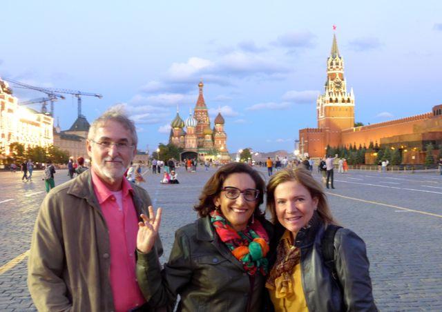 A Rússia era um dos destinos dessa viagem.