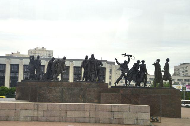 Monumento em homenagem à resistência ao cerco a Leningrado.