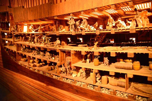Maquete sobre o Barco Vasa.