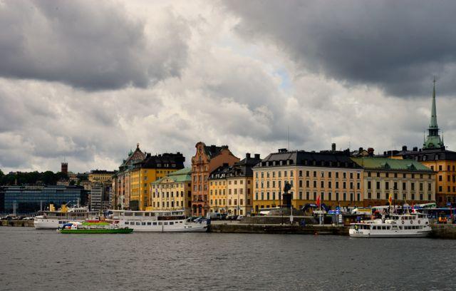 Detalhes da orla de Estocolmo.
