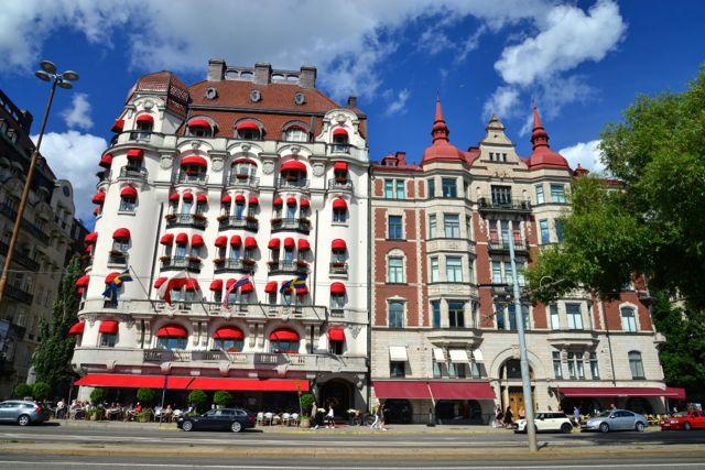 Belos edifícios de Estocolmo.