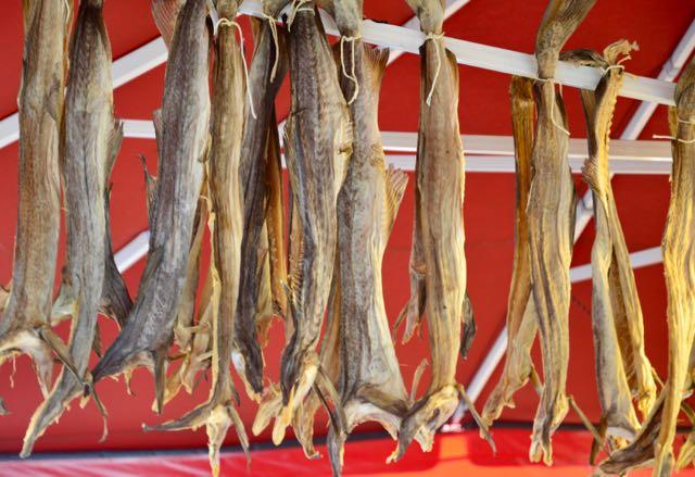 Bacalhau seco na Noruega.