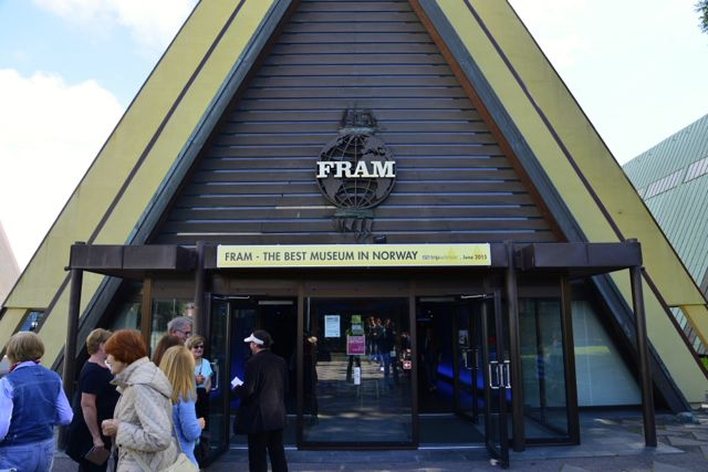 A entrada do Museu do Barco Fram