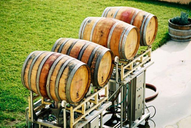 Barricas de vinhos.