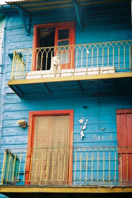 Fachada colorida em La Boca