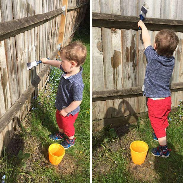 pintando-a-cerca-com-água