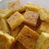 Sopa Paraguaia. Um tipo de bolo salgado com milho e cebola.