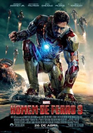 """""""Homem de Ferro 3"""" - Tony Stark - Pôster Brasil"""