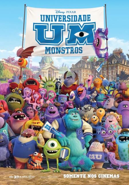 Universidade Monstro - Poster Brasil
