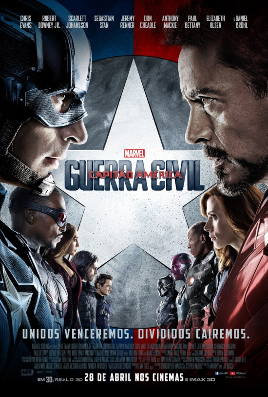Capitão América: Guerra Civil | Pôster brasileiro