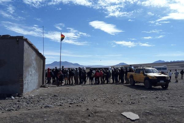 Fronteira entre Chile e Bolívia em São Pedro do Atacama