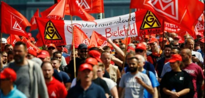 Almanya'da 160 bin sanayi işçisi grevde
