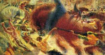 Umberto Boccioni The City Rises - 1911