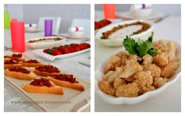 Rengarenk Masadan, Renkli Salatalar :)