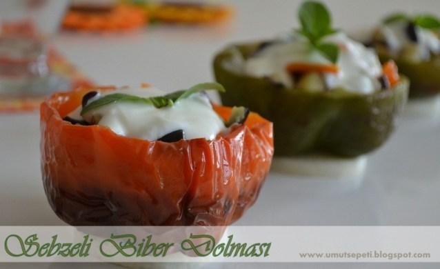 Sebzeli Biber Dolması Salatası :)