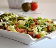 Domatesli Taze  Bezelye  Salatası