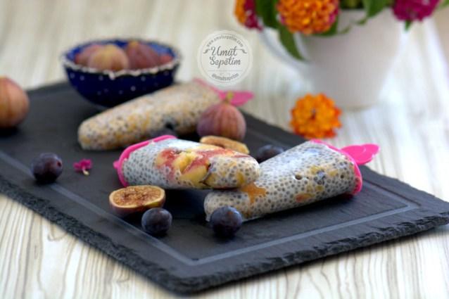 Chia  Tohumlu  Meyveli  Dondurma