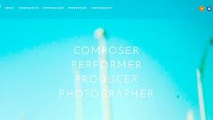 Screenshot of an student artistic portfolio site.