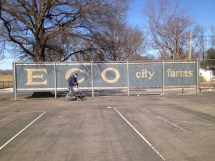 #MakemovesUMD Biking on the new Anacostia trail to ECO City Farms (submitted by Ben Alexandro)