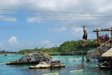 I #MakeMovesUMD by traveling/going on crazy adventures that involve zip-lining into water! (submitted by Alice Chang)