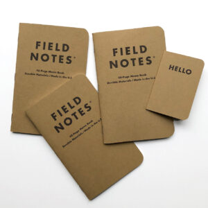 lose aufgereiht, Field Notes, Dreierset, mixed,