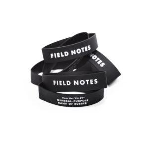 Field Notes, Gummiband, schwarz, bedruckt, dehnbar,