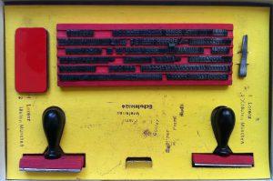 Stempelset, für Kinder, Innenansicht, Gelb, Rot, Stempel,